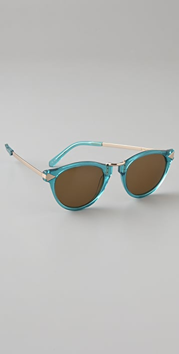 Karen Walker Limited Edition Helter Skelter Sunglasses