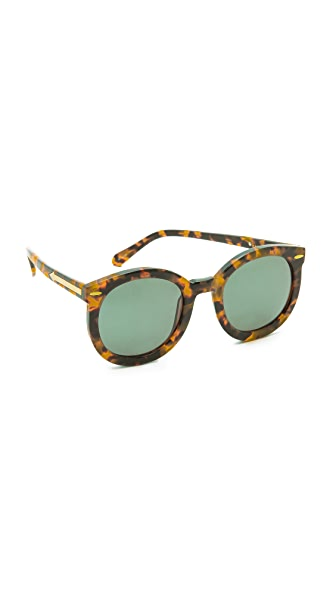 Karen Walker Super Duper Strength Sunglasses - Crazy Tort