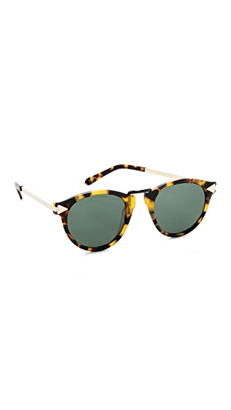 Karen Walker Helter Skelter Sunglasses - Vintage Demi