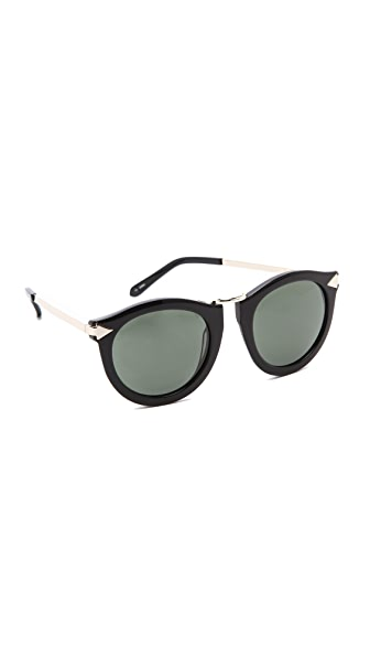 Karen Walker The Harvest Sunglasses - Black