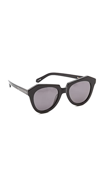 Karen Walker Number One Sunglasses - Black/Smoke Mono