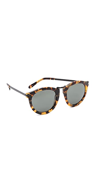 Karen Walker Harvest Sunglasses - Crazy Tort/Smoke Mono