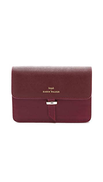 Karen Walker Benah for Karen Walker Juliet Clutch