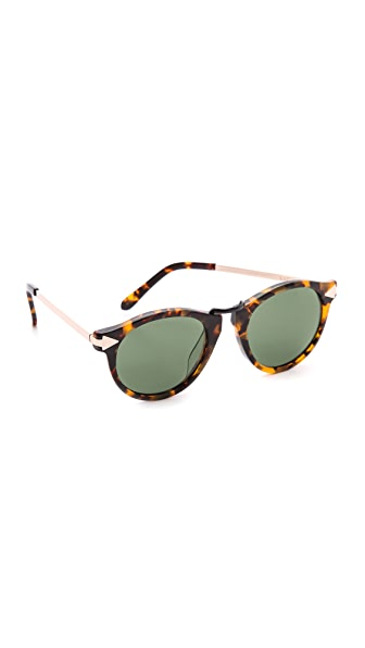 Karen Walker Special Fit Helter Skelter Sunglasses - Crazy Tort/G15 Mono