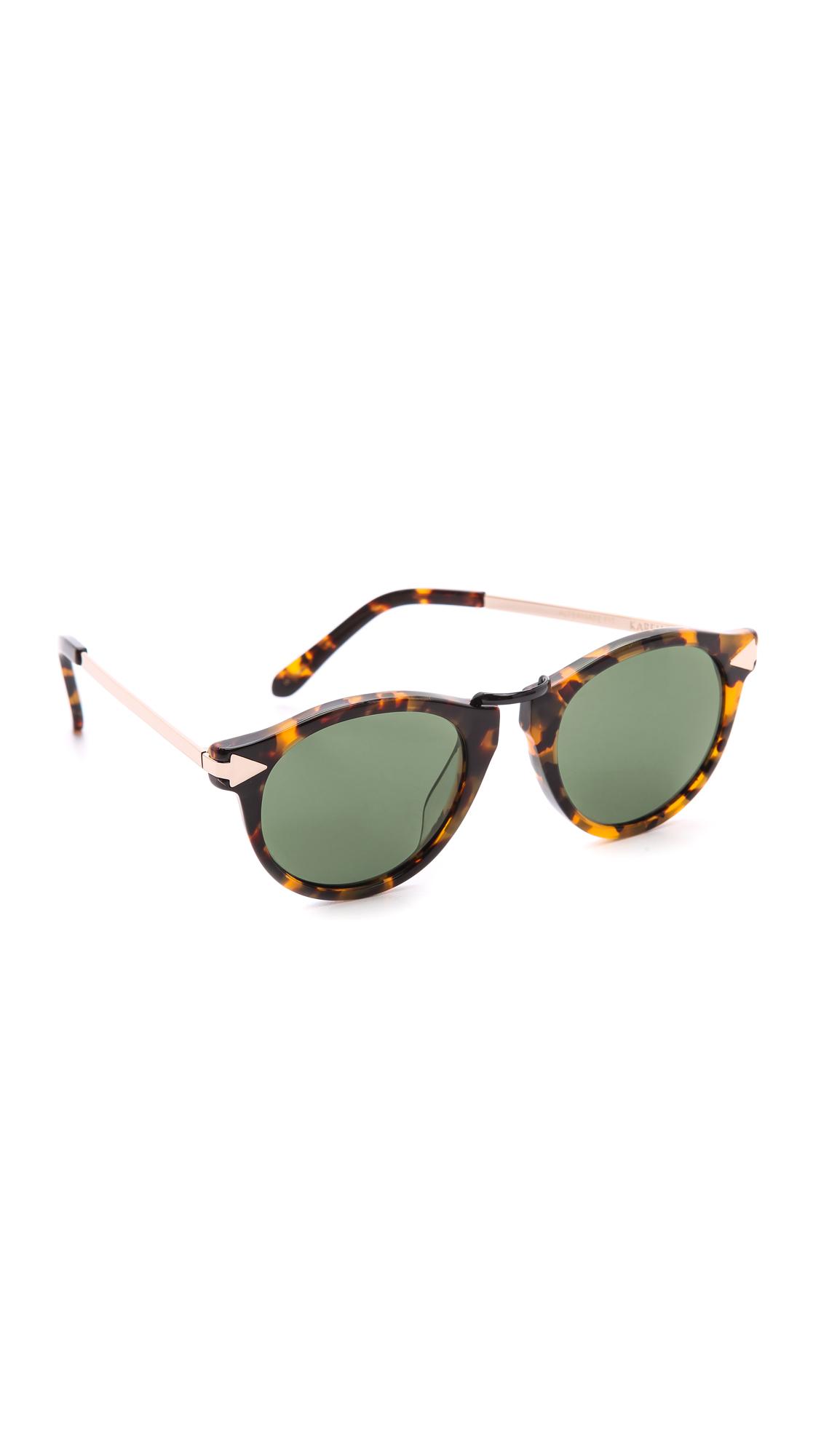 ba13e34f28f Karen Walker Special Fit Helter Skelter Sunglasses - Crazy Tort G15 Mono