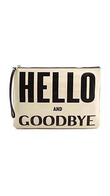 Karen Walker Hello & Goodbye Clutch