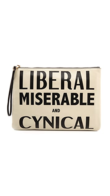 Karen Walker Liberal Miserable and Cynical Clutch