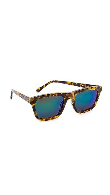 Karen Walker Superstars Collection Deep Freeze Mirrored Sunglasses
