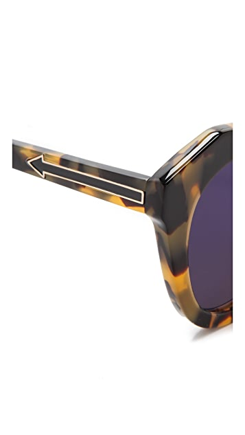 Karen Walker Superstars Collection Number One Mirrored Sunglasses