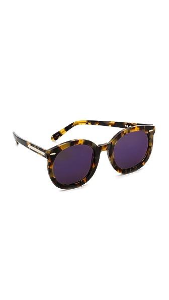 Karen Walker Superstars Collection Super Duper Strength Mirrored Sunglasses