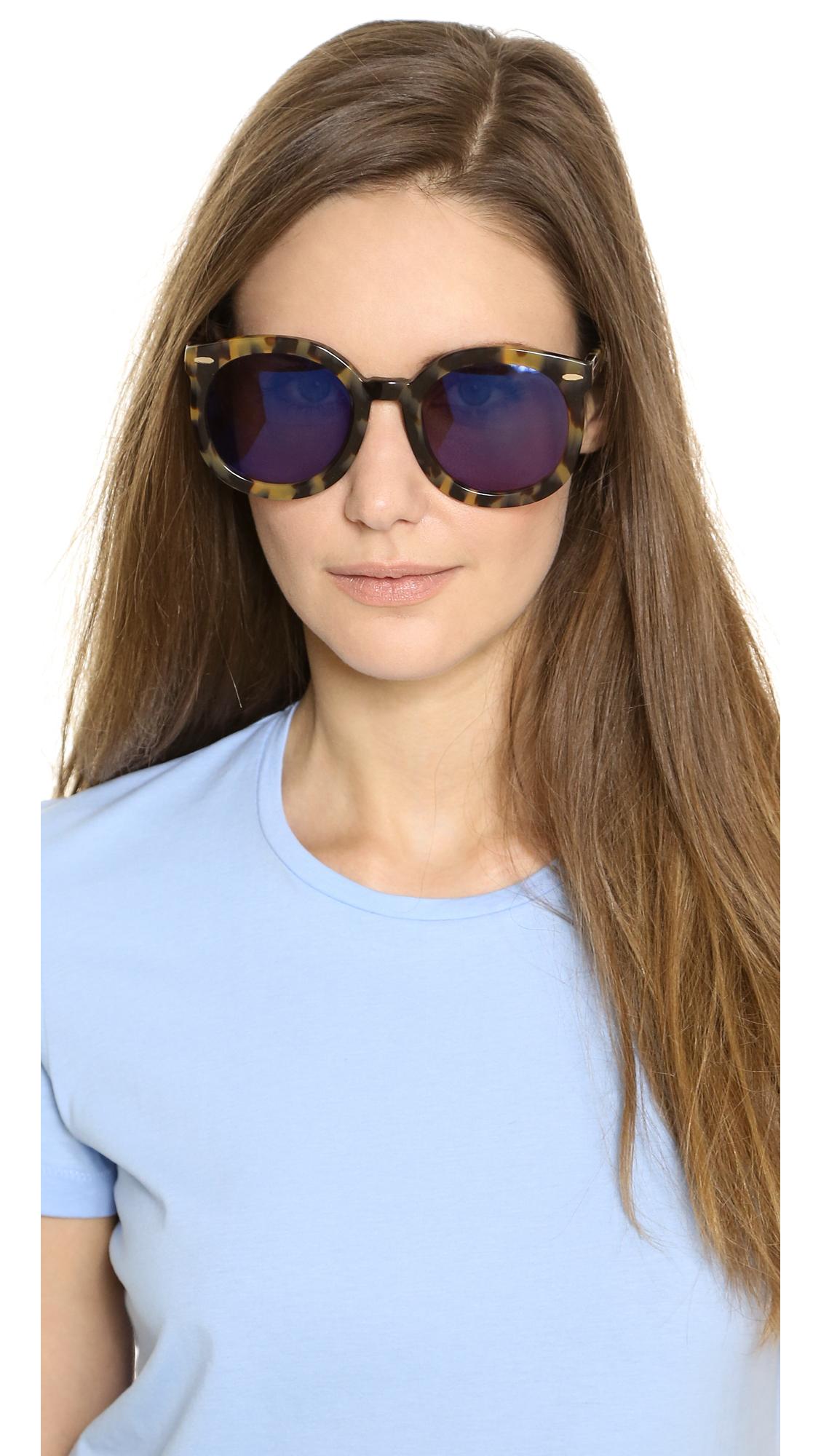 86532f18ebb Karen Walker Superstars Collection Super Duper Strength Mirrored Sunglasses