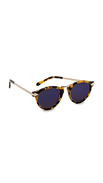 Karen Walker Superstars Collection Helter Skelter Mirrored Sunglasses