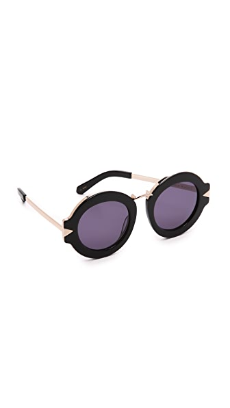 Karen Walker Maze Sunglasses - Black Gold/Smoke Mono