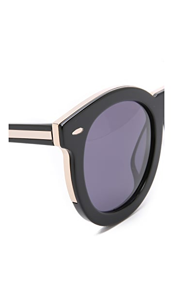 Karen Walker Special Fit Super Duper Thistle Sunglasses