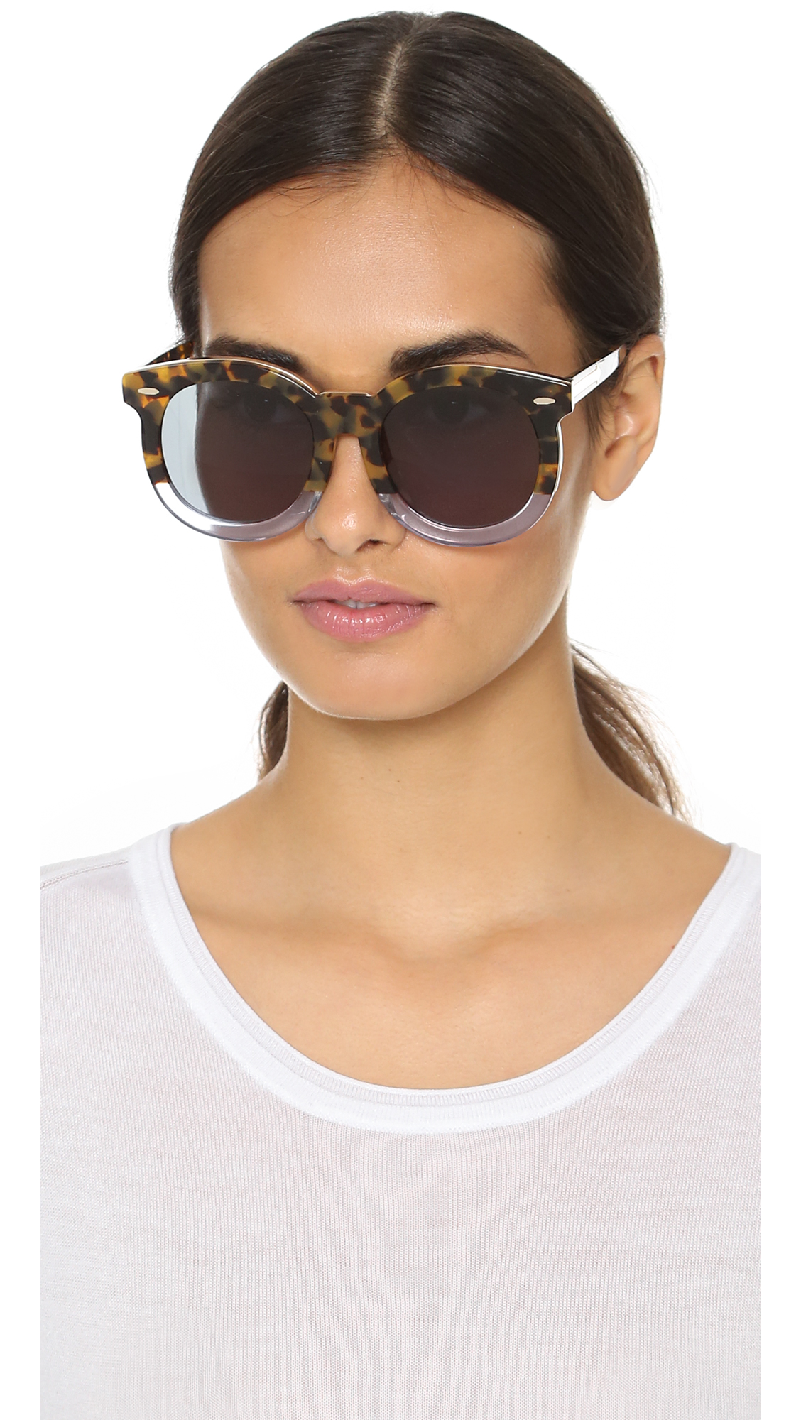 ae7b4937a5e Karen Walker Special Fit Super Duper Thistle Sunglasses