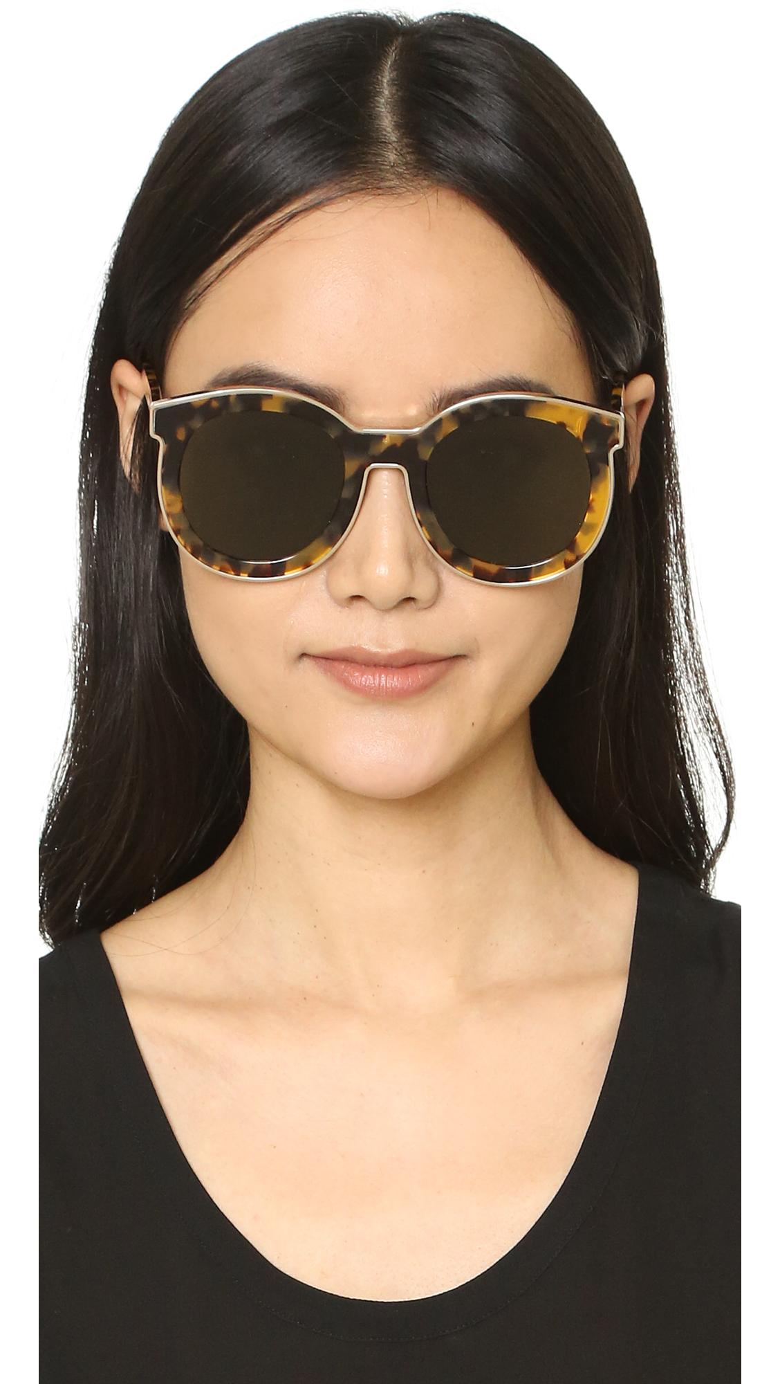 6998159b0c10 Karen Walker Super Spaceship Flat Lens Sunglasses