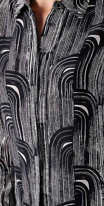 Kelly Wearstler Tucana Print Blouse