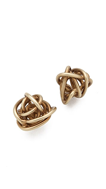 Kelly Wearstler Brass Knot Earrings