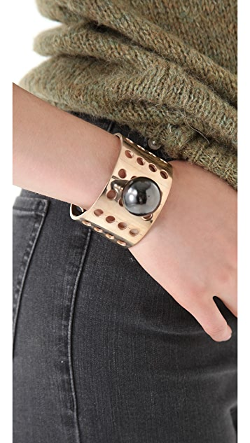 Kelly Wearstler Perforated Bracelet with Sphere