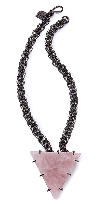 Kelly Wearstler Rose Quartz Triangle Necklace