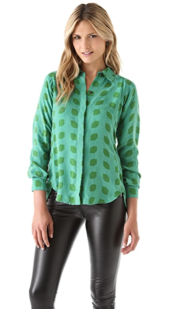 Kelly Wearstler Hutton Button Down Top