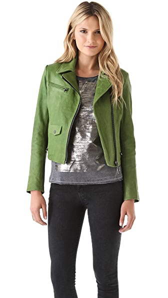 Kelly Wearstler Newton Leather Moto Jacket
