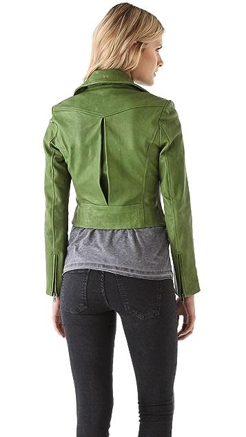 Kelly Wearstler Newton Leather Moto Jacket
