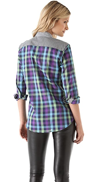 Kelly Wearstler Tito Checkered Top