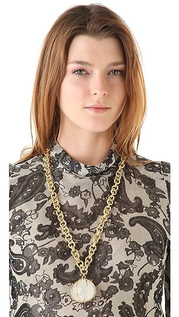Kelly Wearstler Large Quartz Pendant Necklace