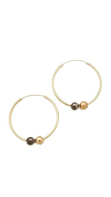 Kelly Wearstler Sphere Hoop Earrings
