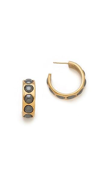 Kelly Wearstler Cabochon Hoop Earrings