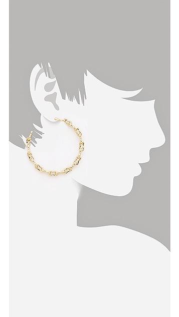 Kelly Wearstler Bent Link Hoop Earrings