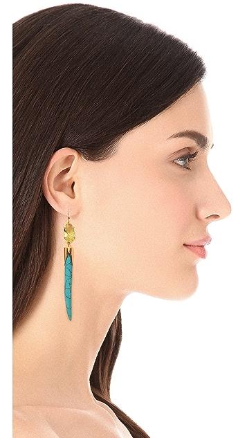 Kelly Wearstler Faceted Stone Earrings