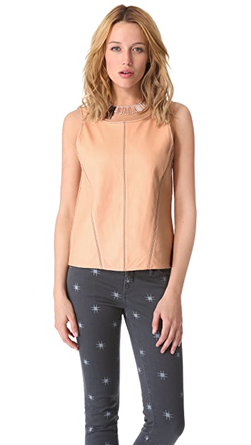 Kelly Wearstler Artifice Leather Tank with V Back