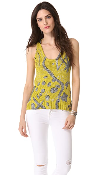Kelly Wearstler Metallic Knit Tank