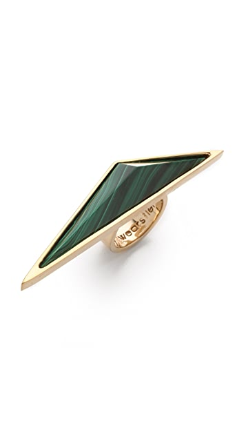 Kelly Wearstler Malachite Point Ring