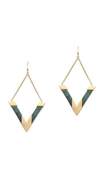 Kelly Wearstler Oblique Stone Earrings