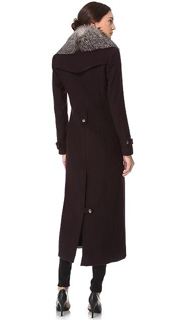 Kymerah Sidney Coat with Fur Collar
