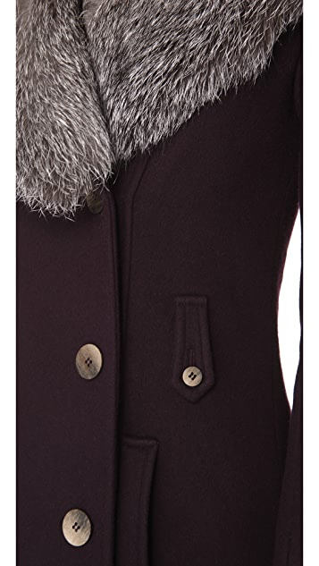 Kymerah Sidney Coat with Fur Collar