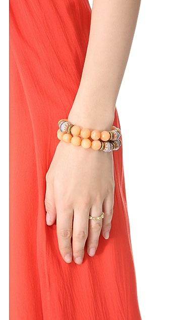 Lacey Ryan Orange Jade Bracelet Set