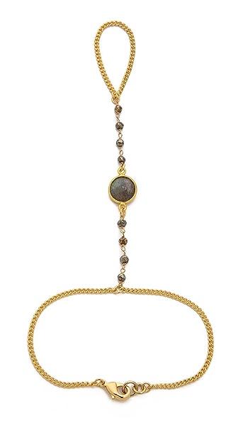 Lacey Ryan Pyrite & Labradorite Hand Chain