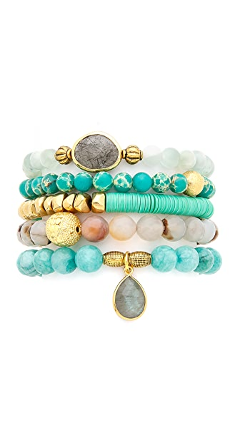 Lacey Ryan Green Goddess Bracelet Set