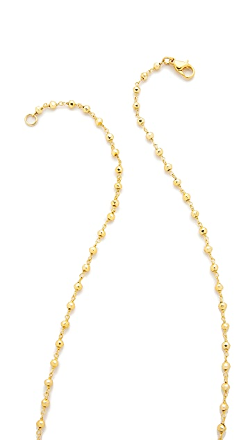Lacey Ryan Metallic Rosary Necklace