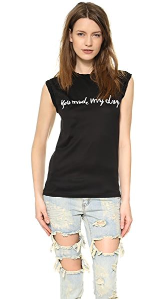 Ladision You Made My Day Roll Up Sleeve Tee