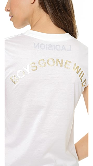 Ladision Boys Gone Wild Roll Up Sleeve Tee