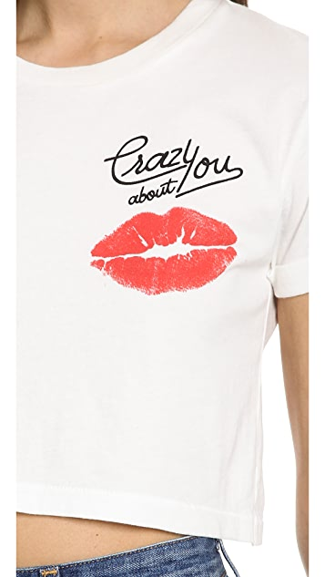 Ladision Crazy About You Roll Up Sleeve Tee