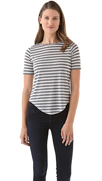 The Lady & The Sailor Striped Tee with Rounded Hem