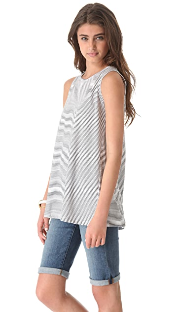 The Lady & The Sailor Pleat Back Tank