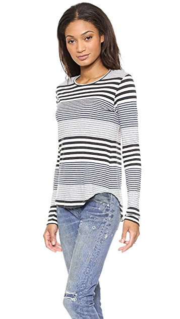 The Lady & The Sailor Long Sleeve Round Bottom Tee