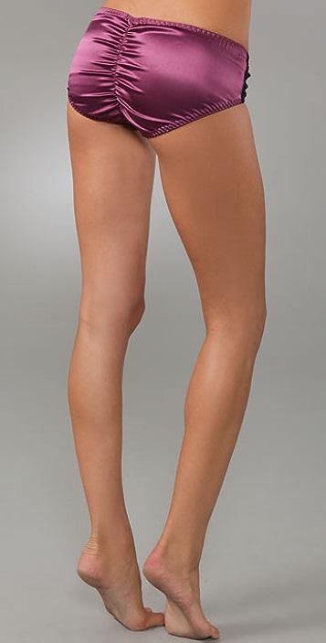 La Fee Verte Silk & Lace Boy Shorts